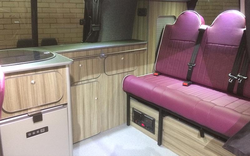 VW Transporter LWB Slimline campervan kitchen units